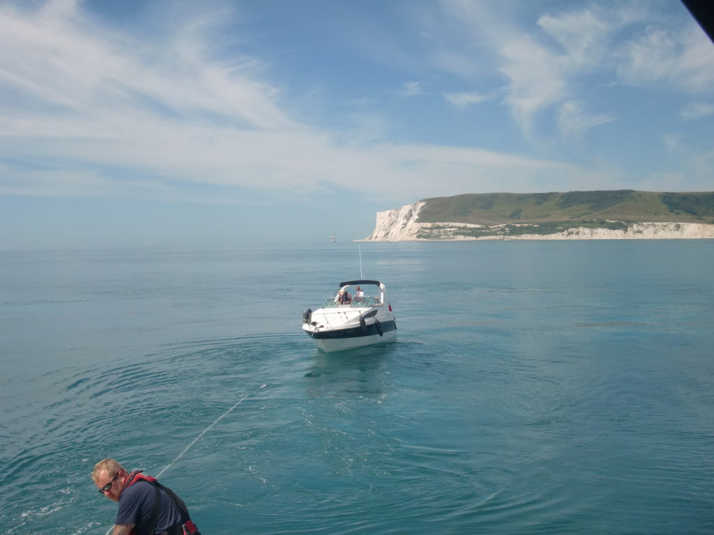Eastbourne lifeboat rescues cruiser